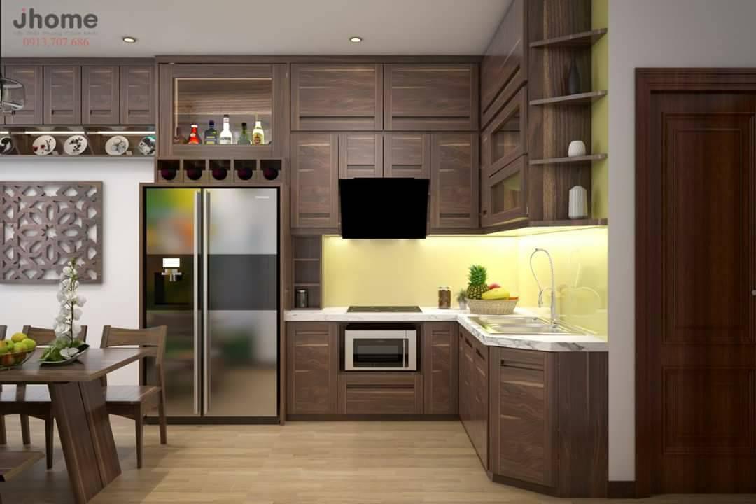 Gỗ công nghiệp là gì?- Thành phần cơ bản gồm : bột gỗ sợi,chất kết dính,paraffin wax chất bảo vệ gỗ ( chất chống mối mọt ,khang mốc) và bột độn vô cơ.Được sản xuất trên quy trình công nghệ cao,để tạo ra các tấm ván ép tiêu chuẩn.  Ưu điểm của tủ bếp gỗ MDF- Tủ bếp gỗ MDF là sự kết hợp tinh tế giữa các sản phẩm gỗ công nghiệp MFC và MDF được phối màu hoạc ép laminate,melamine phủ bên ngoài,các tấm MDF chủ yếu được nhập khẩu,đã qua sử lý kỹ thuật rất cao nên trong quá trình sử dụng không bị cong vênh,kháng ẩm và mối mọt.Hơn thế ,còn tạo được nhiều kiểu dáng và phối được nhiều màu sắc hiện đại.  Quý khách có nhu cầu thiết kế tủ bếp gỗ công nghiệp MDF,vui lòng gọi cho chúng tôi để được tư vấn miến phí Hotline:0964119116 - 0972489466
