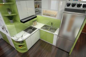 Tủ bếp MDF phủ melamine chống ẩm gỗ An Cường