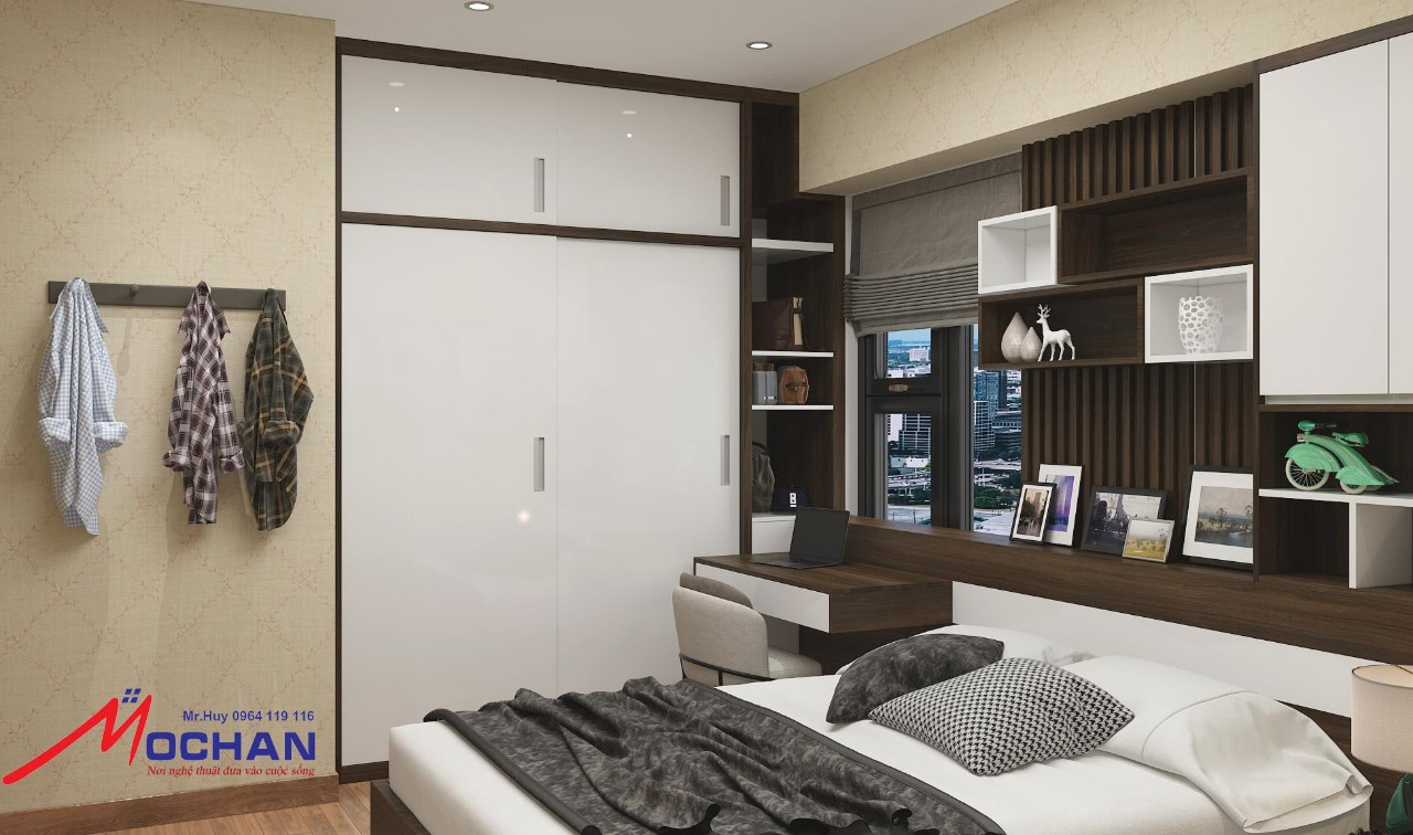phòng ngủ chính của chung cư
